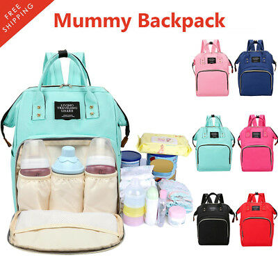 Mummy Maternity Nappy Diaper Bag Large Capacity Baby Care Backpack Handbag Trave