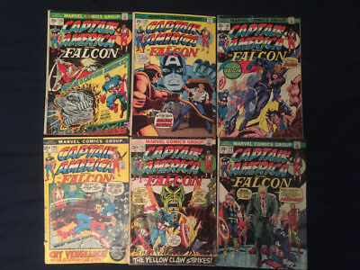 CAPTAIN AMERICA Bronze Age lot of 6: #152,165,176,178-180 (first Nomad) G/VG