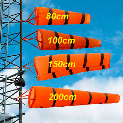80cm-200cm Aviation Windsock Rip-stop Wind Measurement Sock Bag+Reflective Belt