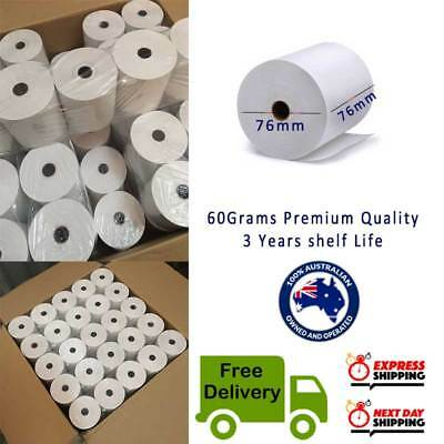 50Rolls 76x76mm 1PLY Bond Paper 1 ply Kitchen Roll Receipt Roll