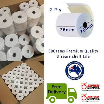 100Rolls 76x76mm 2PLY Bond Paper 2 ply Kitchen Roll Receipt Roll