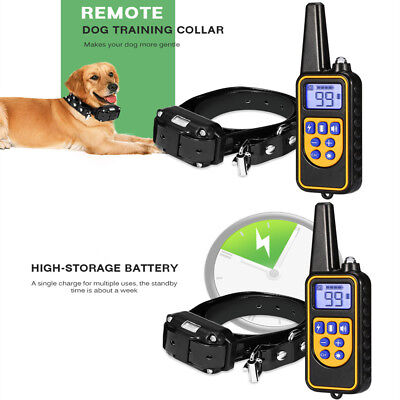 3 Channels Waterproof Rechargeable Remote Control Dog Electric Training Collar