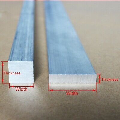 Select Thickness 2mm - 5mm 6061 Aluminum Square Rod Solid Bar L:100-600mm