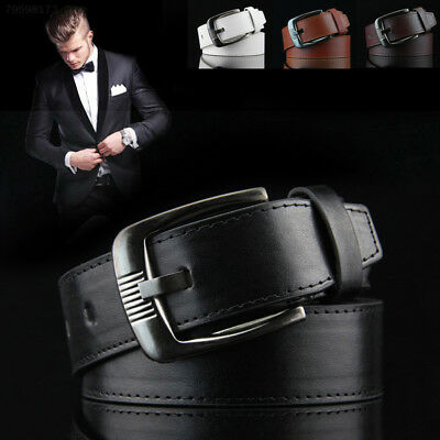 213D Adjustable Trendy Fashion Casual Men Leather Belts Waistband Buckle Waist S