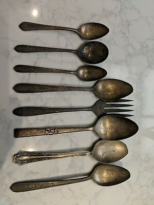 Silver plated flatware mixed lot