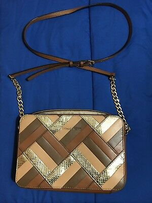 d81cffeed222 MICHAEL Michael Kors Daniela Large Marquetry Luggage Patchwork Leather  Wristlet