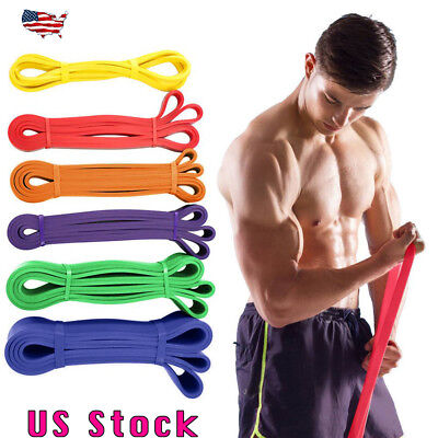 Heavy Duty Resistance Band Loop Power Gym Fitness Exercise Yoga Workout Band US