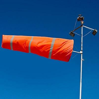 "80cm Airport Windsock 30"" Long Outdoor Wind SOCK w/ Reflective Belts Grommet"