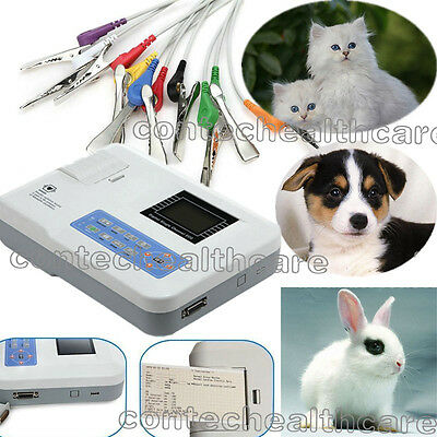 CONTEC sale 3-Channel Veterinary ECG machine Electrocardiograph+PC sw,printer,CE