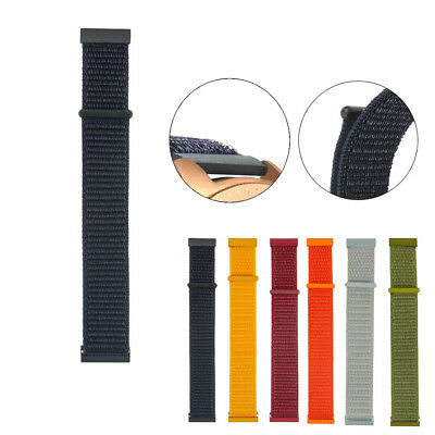 Nylon Weave Band Wrist Strap 20mm For Garmin Vivoactive3/Vivomove HR/Forerunner6