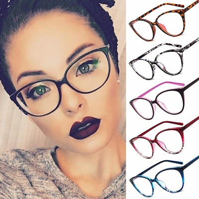 HOT Women Cat Eye Frame Clear Lens Ladies Glasses Retro Vintage Eyeglasses Lady