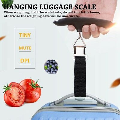 50kg Portable Hanging Digital Electronic Suitcase Luggage Weighing Scale A
