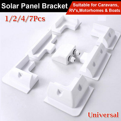 Solar Panel Corner Cable Mounting Bracket Kit Caravan Boat RV Vehicle Roof Mount