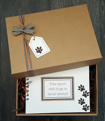 "Dog Scrapbook, Handmade 8""x6"" pet memory book, Puppy Photo Album,can personalise"