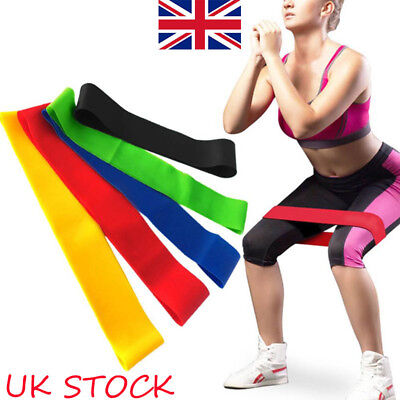 Resistance Bands Heavy Duty Exercise Fitness Workout Loop Set Gym Stretch Physio