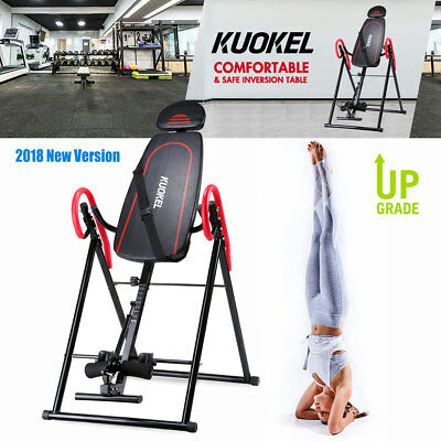 New Foldable Inversion Table Back Therapy Fitness Reflexology Chiropractic Table