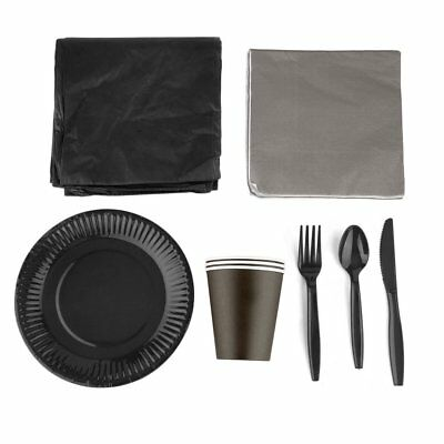 Disposable Paper Party Tableware Dinnerware Colorful Full Party Supply Pack