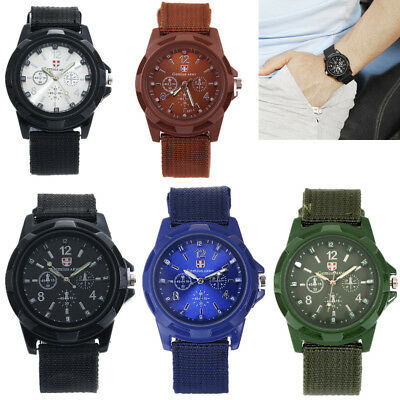 Men's Military Army Wristwatch Sports Quartz Watches Nylon Band Swiss Watch Hot