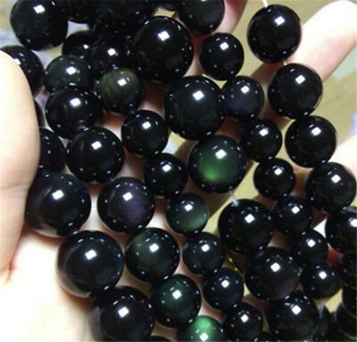 """1pcs obsidian Gemstone Loose bead 15"""" Spacer Colorful Accessorie Handmade Top"""
