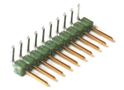 10-pin 2.54mm Single Row Angled Male Header Connector Pcb Pen Strip Angled