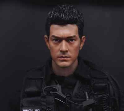 "1/6 Scale Takeshi Kaneshiro Head Sculpt Carving Model For 12"" Action Figure"