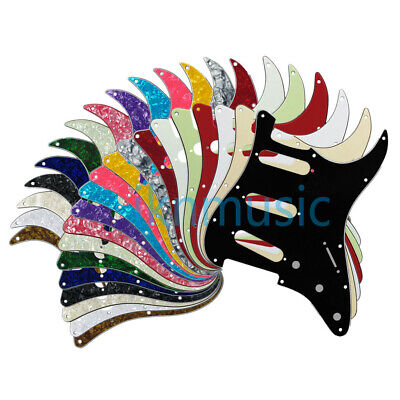 45 Colors Strat Electric Guitar SSS Pickguard 11 Holes Scratch Plate + Screws