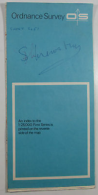 1963 old vintage OS Ordnance Survey 1:25000 First Series Map SJ 51 Shrewsbury E