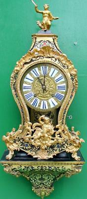 WOLFF A CHALONS 18th CENTURY FRENCH VERGE 8 DAY BOULLE BRACKET CLOCK