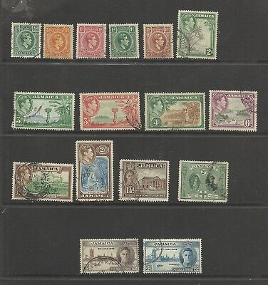 JAMAICA GV1 Selection of fine used with Values to 2/-