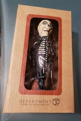 "Department Dept 56 Halloween 6"" Dead Skeleton Pollywoggs In Box"