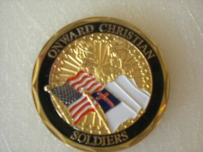 CHRISTIAN COIN Onward Christian Soldier  Military Challenge Coin  NEW