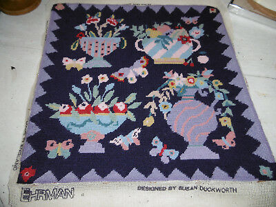 Vintage needlepoint tapestry picture Ehrman Susan Duckworth, very good condition