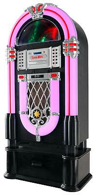 Vintage XXL Jukebox Record Player Stand Base Unit Support Mp3 CD Bluetooth FM