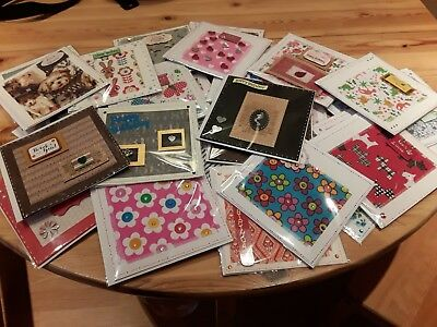 job lot 35 hand made cards assorted sentiments