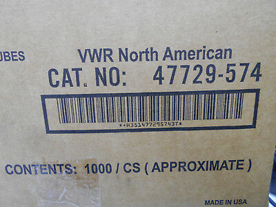 Vwr 47729-574 Disposable Borosilicate Glass Culture Tubes 15 X 85Mm Approx 1000/