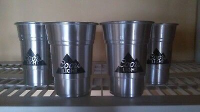Coors light aluminum cups (4)