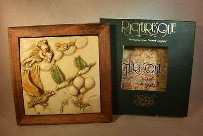 Harmony Kingdom Picturesque Birds SKY MASTER TILE with Frame  (b618N)