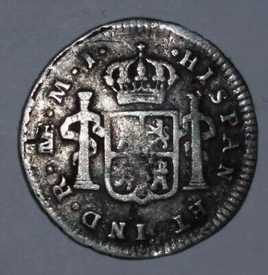 Spanish 1776 USA Independence day , Charles lll Silver 1/2 Real Rare
