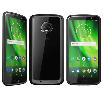 For Moto G6 / G6 Plus Case, SUPCASE Hybrid Protective Shockproof Clear Cover New
