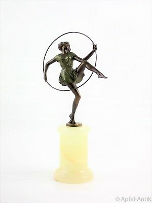 ZACH, Bruno BRONZE, TÄNZERIN MIT REIFEN UM 1920, DANCING GIRL AROUND 1920