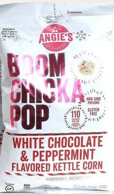 1 Angies Boom Chicka Pop White Chocolate Peppermint Kettle Corn Popcorn 4 oz