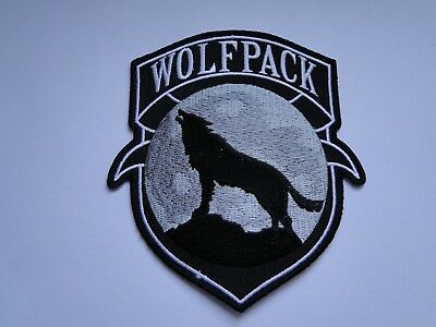 Aufnäher/Patch    WOLFPACK  Howling Wolf  ca 10x9 cm
