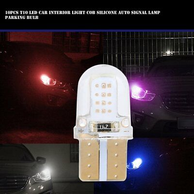 10pcs T10 Led Car Interior Light Cob Silicone Auto Signal Lamp Parking Bulb FT