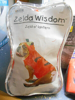 NEW Zelda Wisdom Zeld-O'-Lantern Dog Pumpkin Costume Medium Dog Costume