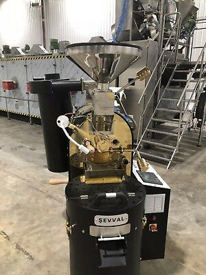 15 Kilo/ 33lb SEVVALUSA Makina Commercial Coffee Roaster New with Gold Cover