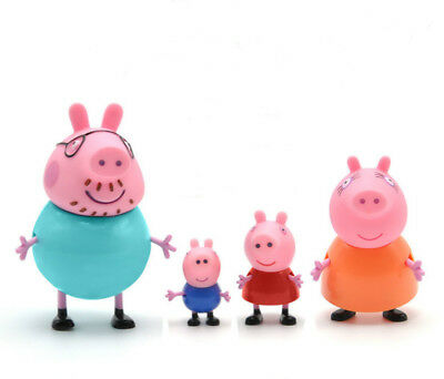 Peppa Pig Family Figures Pack Set Of 4 New Toys Kids Pepa Mummy Daddy Boys Girls