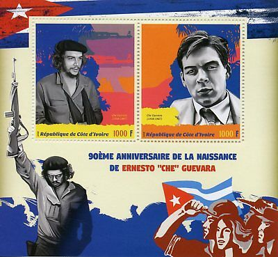 Ivory Coast 2018 MNH Ernesto Che Guevara 2v M/S Famous People Stamps