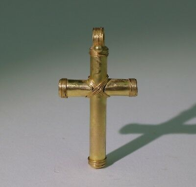 £695..  Fabulous Ancient Roman Byzantine Gold Cross Pendant  Circa-4Th/6Thc Ad