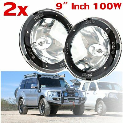 "2x 9"" Inch 12V 100W Hid Driving Lights Xenon Spotlight Offroad SUV Truck Ute FT"
