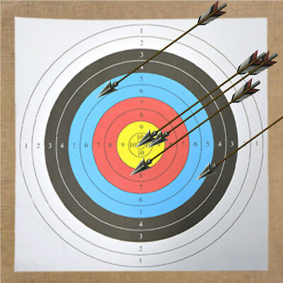 Sport 10 x Archery Target Paper Face for Arrow Bow Shooting Hunting AU